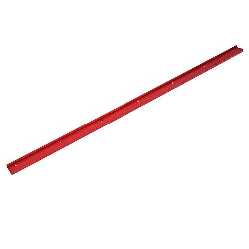 belupai 1200mm Aleación de aluminio roja 45 Tipo T-Track Carpintería T-Slot Mitre Track