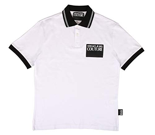 Versace Jeans Couture Patch Logo Polo Shirt XL White