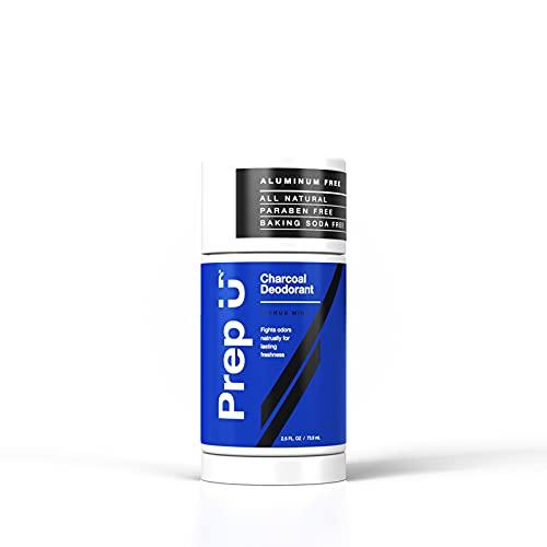 Prep U Dermatologist Tested Charcoal Deodorant for Boys - All Natural Sensitive Skin Care for Teens...