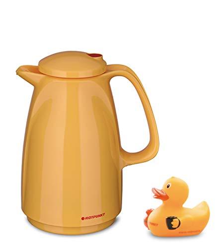 ROTPUNKT rubberduck Edition (Rubberduck Typ 225, 0,5 l) rubberduck Edition| Orange| Doppelwandige Vakuumisolierung | Zweifunktions-Drehverschluss | BPA Frei- gesundes Trinken | Made in Germany