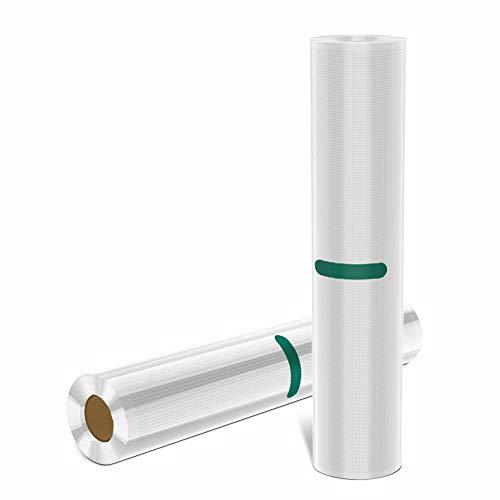 Toyuugo Folienbeutel 2 Rollen 28x1500 cm Vakuumrollen für Vakuumierer BPA-frei und LFGB Vakuumbeutel Ideal Folienrollen Lebensmittel und Sous Vide