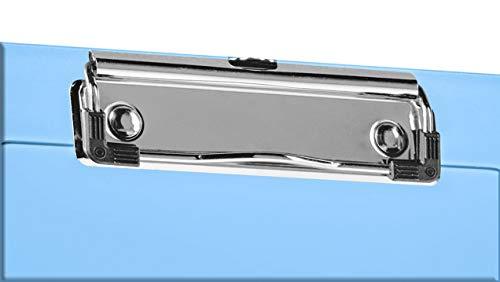 """Acrimet Clipboard Memo Size A5 (9 1/4"""" x 6 5/16"""") Low Profile Clip (Plastic) (Clear Blue Color) (3 Pack) Photo #3"""