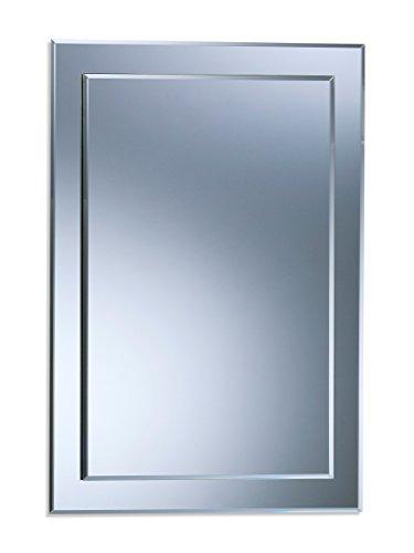 Magnifique miroir de salle de bain rectangulaire, moderne et élégant, double couche de verre, taillé en biseau, mural 70CM X 50CM
