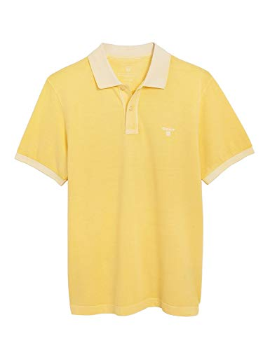 GANT Herren Poloshirt Regular Fit Kurzarm Limone (40) XXL