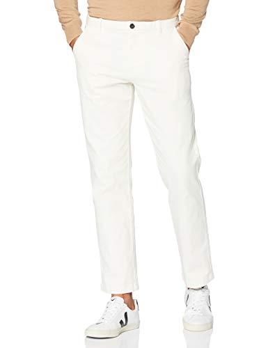 Marca Amazon - MERAKI Pantalones Chinos Regular Fit Hombre, Marfil (Antique White), 38W / 32L, Label: 38W / 32L