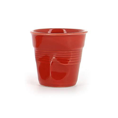 Revol - Tasse cappuccino unie en porcelaine Couleur - Rouge piment, Tailles - H. 8,5 x Ø 8,5 cm - 18 cl