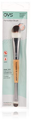 4. Brocha doble QVS Concealer & Foundation