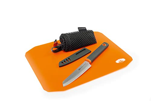 GSI Outdoors Santoku Cut and Prep Rollup Cutting Board and Knife Set for Backpacking and Travel