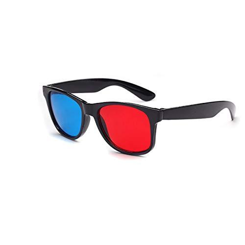 Wolfberrymetal Gafas 3D Cian Azules Rojas, Gafas 3D universales Película de televisión Marco de Video anáglifo Dimensional Gafas 3D Juego de DVD Vidrio Color Rojo y Azul