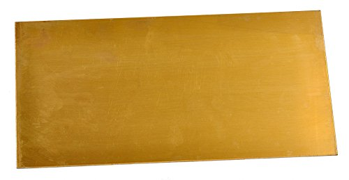 "Texas Knifemakers Supply 360 Free Machining Brass Sheet - 0.032"" x 6"" x 12"""
