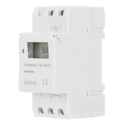 Tangxi Relé Interruptor de Temporizador, DC12V/AC220V Pantalla LCD Interruptor de Temporizador Semanal Interruptor de Encendido/Apagado de Control de Microordenador(DC12V)