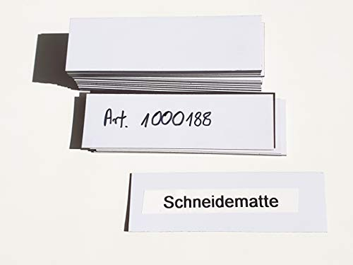 magnetische Etiketten 30mm x 100mm, weiß, 50 Stück, beschriftbare magnetische Etiketten, Magnetschilder für Lager