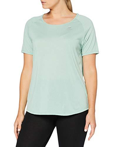 Odlo T-Shirt MC Helle Millenium Element Camiseta Igera Mujer, Mujer, Creme De Menthe Melange, L