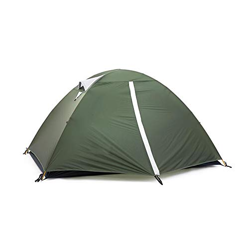 WZLJW Outdoor Tents,Double Layer Ultralight Dome Tent Aluminium Rod Rain-proof Camping Tent Festival Tents For Picnics,Hiking,Fishing,Outdoor Green 210cm
