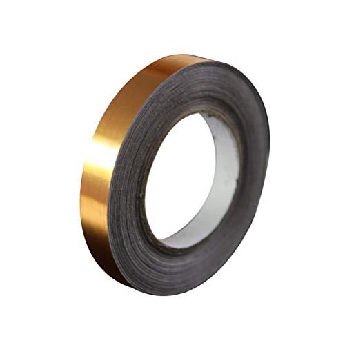 HEALLILY Adesivi per Piastrelle autoadesivi Foglio di Alluminio Nastro Adesivo ceramico ceramico Lucido per Soggiorno Camera da Letto 1cmx50m (Oro)