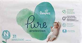Diapers Newborn/Size 0  <10 lb  31 Count - Pampers Pure Protection Disposable Baby Diapers Jumbo Pack  Packaging May Vary
