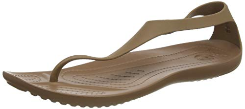 Crocs Damen Sexi Flip Women Plateau, Gold (Bronze 854), 34/35 EU