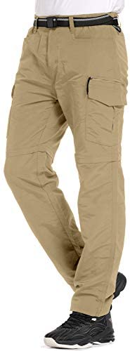 Mens Hiking Pants Convertible Quick Dry Lightweight Zip Off Outdoor Fishing Travel Safari Pants product image