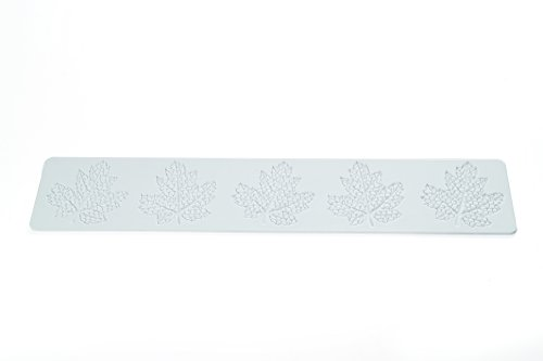 Wonder Cakes by Silikomart 23.090.87.0069 Tapis en Silicone pour Dentelles en Sucre avec Motif Ornementale, Blanc, 0,5 x 9,5 x 42 cm
