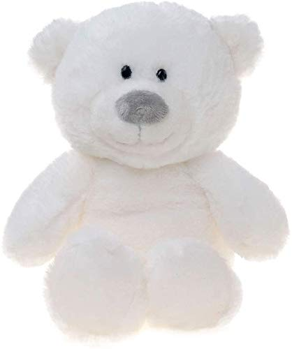 WILDREAM Plush White Teddy Bear Stuffed Animals, 8 Inches