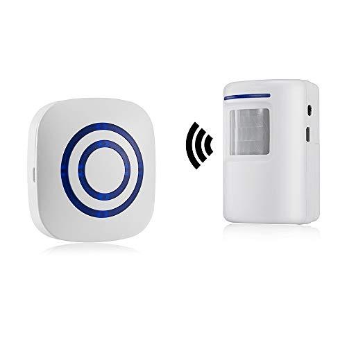 Alarma de seguridad, HausFine Inalámbrico Timbre de Alarma para...
