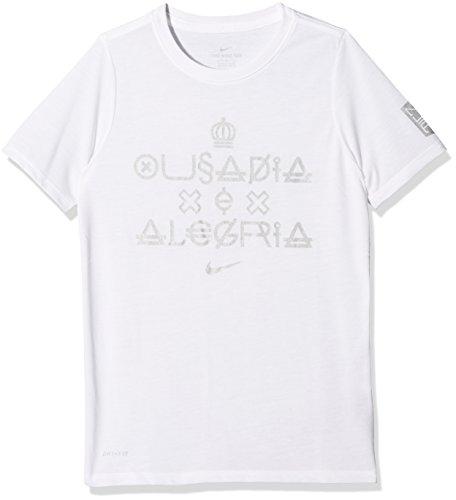 Nike Jungen Neymar B NK Dry Tee Verbiage Kinder Kurzarm-fußballshirt, Weiß, XS