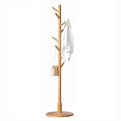 YQDSY Abrigo Soporte Abrigo Soporte de Perchero de Pie Libre Árbol de Capa de Bambú Soporte de Bambú con 8 Ganchos Simple Moderno Moderno Y Sombrero Soporte para...