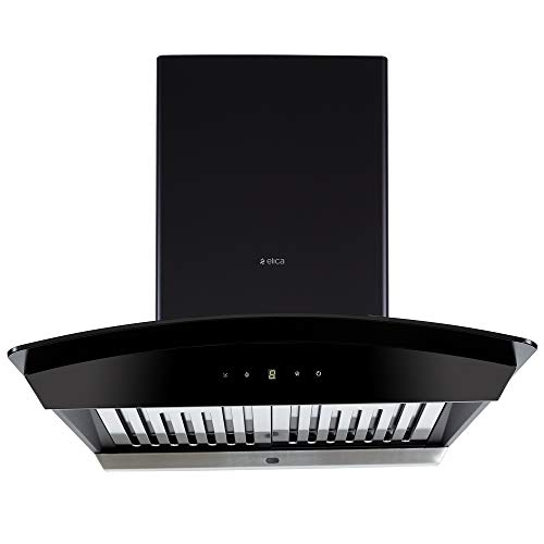 Elica 60 cm 1200 m3/hr Auto Clean Chimney (WDAT HAC 60 NERO, 2 Baffle Filters, Touch Control, Black)