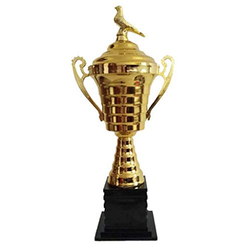 HFJKD Trofeo, Trofeo de competición Deportiva de Alta Gama Trofeo Campeón Deportivo Trofeo Peace Pigeon Trofeo Baloncesto, Oro, 14 * 14 * 47 cm