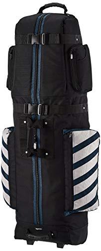 AmazonBasics Sac de golf de voyage de qualité supérieure, souple, à roulettes - Bleu