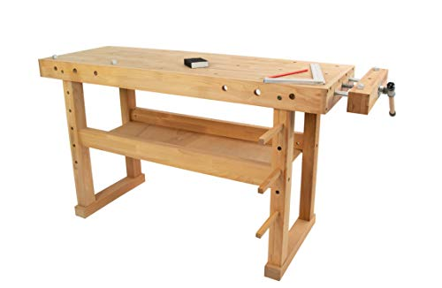 Hobelbank BUCHE Werkbank Holzwerkbank Werktisch Arbeitstisch mit Spannzange
