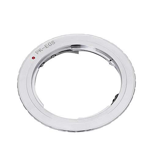 EBTOOLS Adattatore per obiettivo fotocamera PK-EOS con contatto elettrico per obiettivo Pentax K per fotocamere EOS Canon