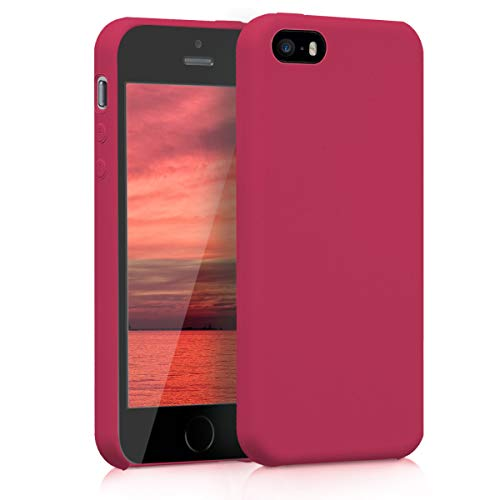 kwmobile Apple iPhone SE / 5 / 5S Hülle - Handyhülle für Apple iPhone SE / 5 / 5S - Handy Case in Fuchsia Rot