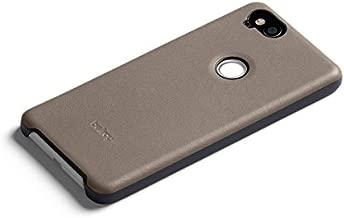 Bellroy Pixel 2 Case (Leather Google Pixel Phone Cover, Super Slim Profile, Soft Microfiber Lining) - Stone