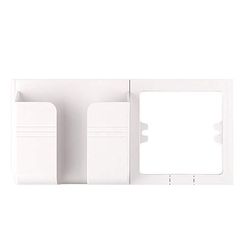 ROZIN Enchufe De Puerto Dual USB Hembra Adaptador/Cargador De Pared De Carga 2A Adaptador/Cargador De Pared De Salida Blanco Pop Sockets,White Holder