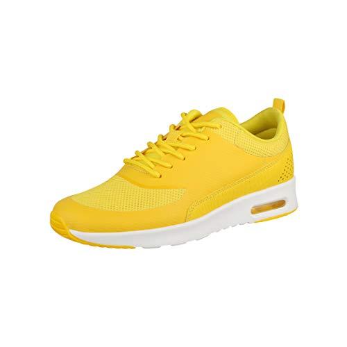 Elara Zapatillas de Deporte Unisex Zapatos para Correr Chunkyrayan Amarillo DS9118-M9119 Yellow-39
