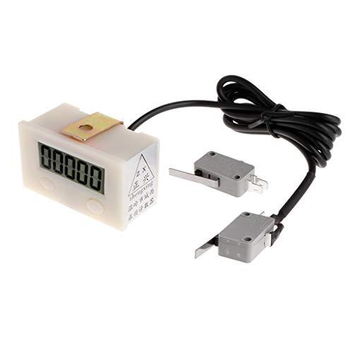 GROOMY Contatore elettronico Digitale a 5 cifre per punzonatura Elettronica con microinterruttore di Reset e Pulsante di Pausa