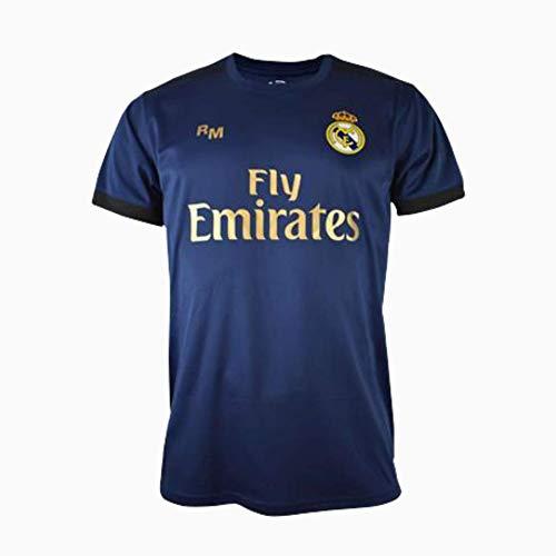 Camiseta 2ª equipación Navy Real Madrid 2019-20 - Replica Oficial con Licencia - Dorsal Liso - Adulto Talla L