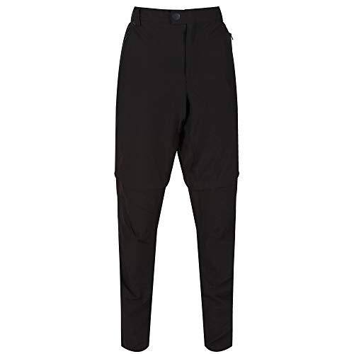 Regatta Pantalon Technique Stretch avec Jambes dézipables HIGHTON-Long Trousers Homme, Black, FR : XL (Taille Fabricant : 36\