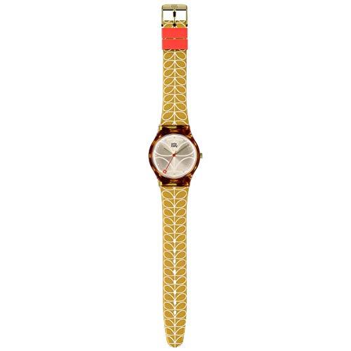 Orla Kiely Unisex Adult Analogue Classic Quartz Watch with Plastic Strap OK2222,Champagne
