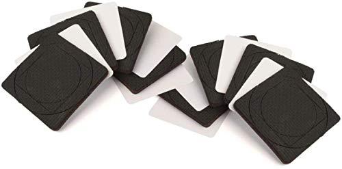 Slipstick CB1458 GorillaPads 21/2 Inch Square Non Slip Furniture Pads/Grippers Black