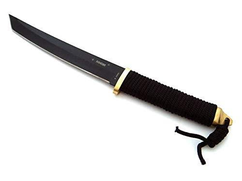 Kamikaze Katana Honor Edition - 35cm Messer schwarz, Gold - Tanto - Samuraischwert klein inklusive Schutzhülle