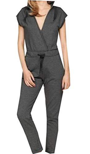 Bench Overall Jumpsuit Einteiler Damenoverall S M L XL NEU anthrazit