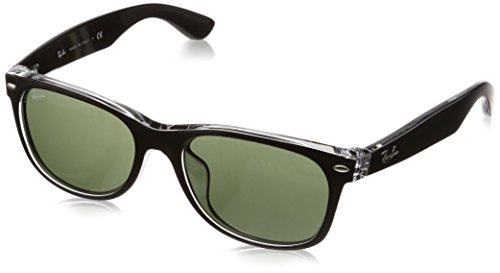 Ray-Ban RB2132F Gafas de sol, Multicolor (TOP BLACK ON TRASPARENT 6052), Talla única para Hombre