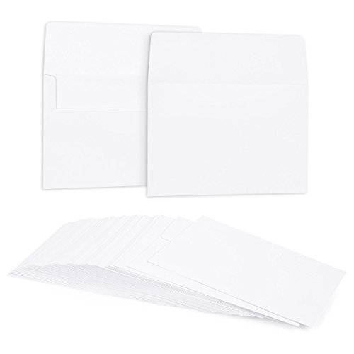 White Envelopes for Wedding Invitations and Greeting Cards (5 x 7 in, 50-Pack)