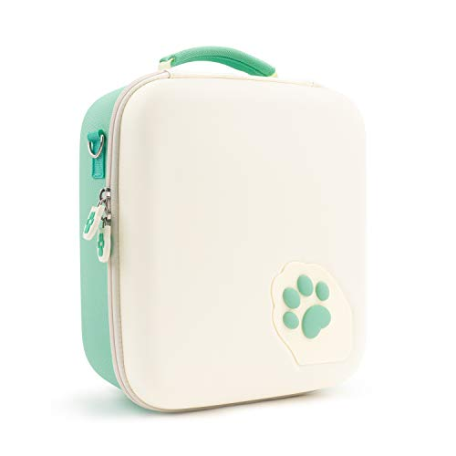 GeekShare Green Cat Paw Case Compatible with Nintendo Switch, Protective Travel System Case with 18 Game-Card Slots for Switch Console, Pro Controller, Dock and Accessories
