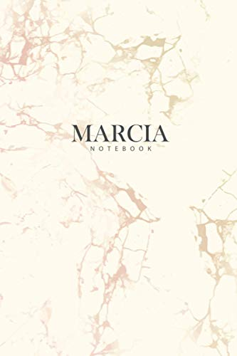 MARCIA : Personal Marble MARCIA Notebook   Journal: Diary Notebook   Lined Notebook   Journal Gift, 120 Pages, 6x9, matte Cover, Matte Finish