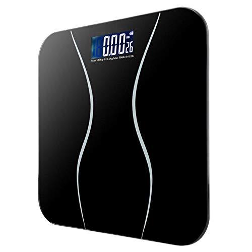 MHBY Báscula de Peso, 180Kg Báscula de Peso Cuerpo Humano Báscula electrónica de batería Seca Precisión del hogar Salud de niños Adultos Báscula electrónica Báscula de baño