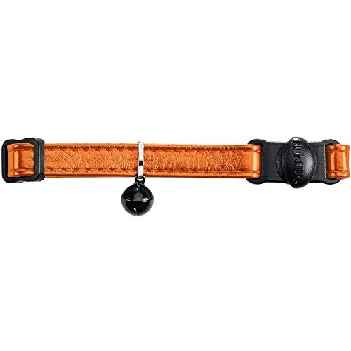 HUNTER 66327 VIGO Katzenhalsband, mit Glöckchen, Sicherheitsverschluss, orange, orange
