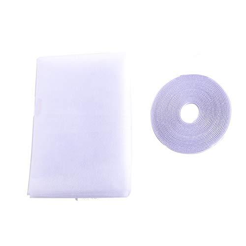 Ba30DEllylelly Protector de cortina de tela de malla de red de ventana de puerta antimosquitos